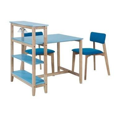 Vitale Omero Mavi Masa Sandalye Seti Renkli